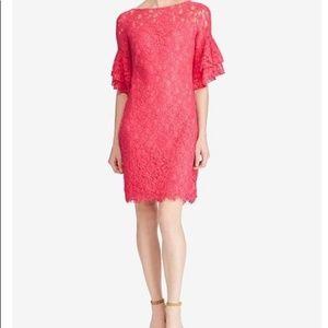 NWT Ralph Lauren Lace Bell Sleeve Sheath Dress